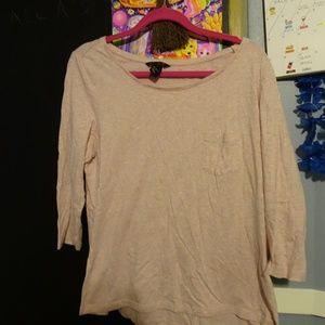 Light Pink H&M Basic Quarter Sleeve